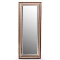 Espejo resina marco marrón y dorado liso 40x120h cm ext. 54x134h cm