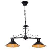 Lámpara colgante metálica negra doble Serie Buhardilla 62x67,50h cm