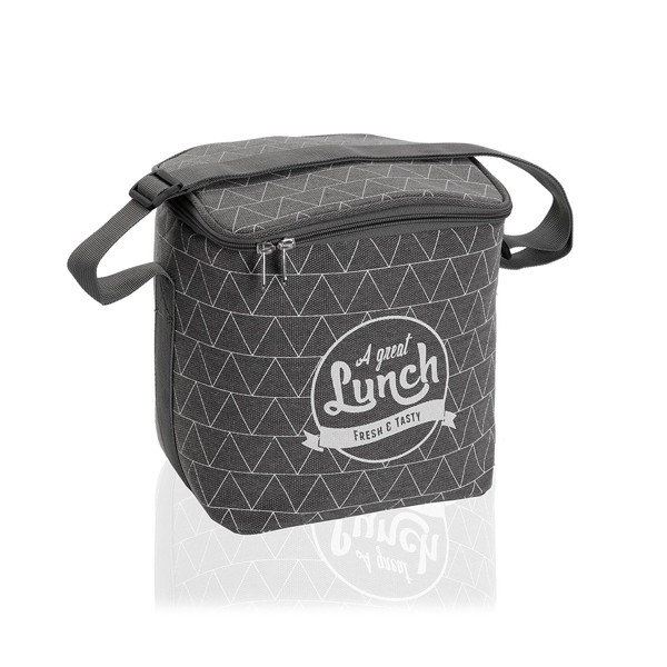 "Bolsa isotérmica lunchbag gris ""A great Lunch"" Triangle 9,2 litros 22x18x23h cm"