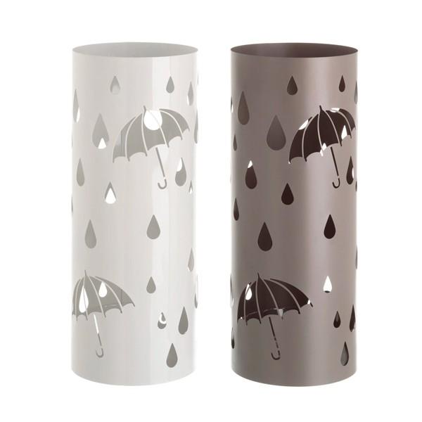 Paragüero metálico redondo paraguas y gotas 2 colores 19,50x49cm