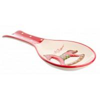 Reposa cuchara cerámica estampado Caballo balancín Navidad 24,5x10 cm