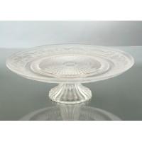 Fuente con pie cristal con relieve Sophia 29x9 cm