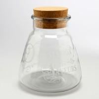 Bombonera cristal grande con tapa de corcho Degustation Saveurs 10x13h cm