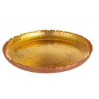 Bandeja cuenco hierro Dustin color dorado y cobre 28x3,5h cm