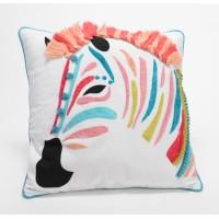 Cojín algodón con relleno cebra colores 40x40 cm