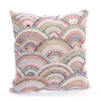 Cojín algodón con relleno colores en abanico 45x45h cm