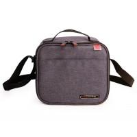 Borsa termica Case lunchbag nero + 2 piatti