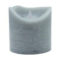 Vela led color gris ceniza Sara Exclusive Spa Ash 10x10,40h cm