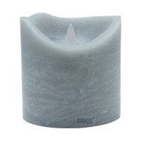 Vela led color gris ceniza Sara Spa Ash 10x10,40h cm