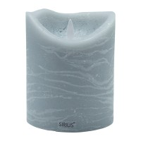 Vela led color gris ceniza Sara Exclusive Spa Ash 10x12,50h cm