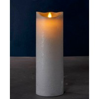 Vela led color gris ceniza Sara Exclusive Spa Ash 10x30h cm