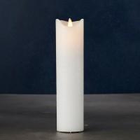 Vela estrecha led color blanco Sara Exclusive 5x25h cm