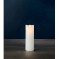 Vela estrecha led color blanco Sara Exclusive 5x15h cm