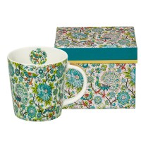 Mug decorado en caja regalo Pavone real gold PPD 35cl