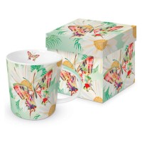 Mug decorado en caja regalo Echo Butterfly PPD 35cl