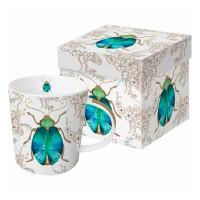 Mug decorado en caja regalo Escarabajo Scarab PPD 35cl