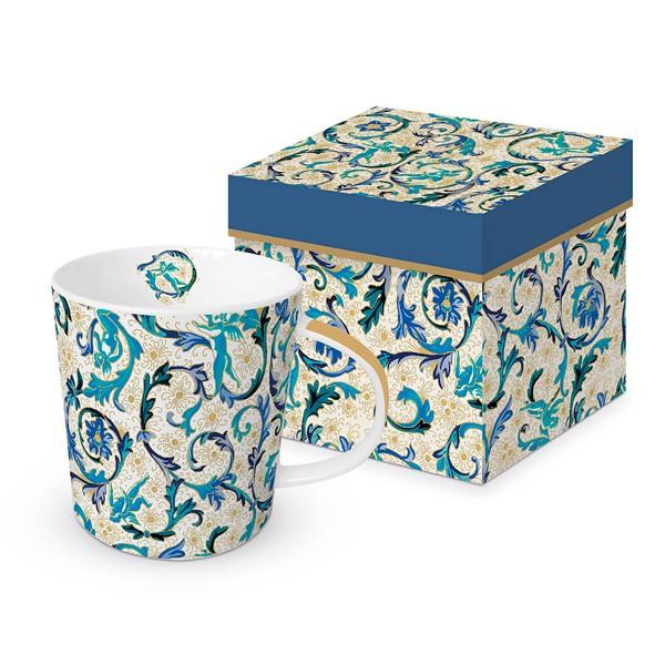 Mug decorado en caja regalo Fiorentina Azzurra real gold PPD 35cl