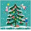 Servilletas papel navideñas estampado árbol Navidad con hadas Happy Xmas Tree PPD 33x33cm