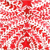Servilletas papel navideñas estampado Navidad rojo Grüezi! PPD 33x33cm 20 unidades