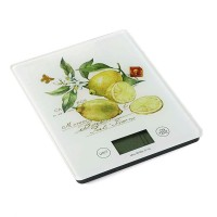 Báscula cocina sobremesa cristal limones con hojas Lemon (1g-5kg)