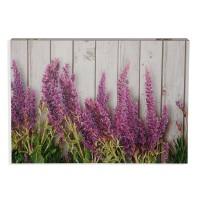 Tapa cubre contadores estampada flores lavanda Provence 46x4,5x33h cm
