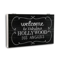 Tapa cubre contadores negro Pizarra Welcome Hollywood 46x33x4,5cm