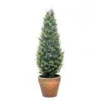 Planta artificial arbolito seto Tuya en maceta barro 45h cm