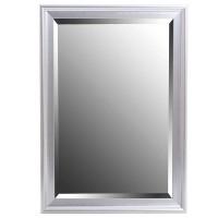 Espejo rectangular con marco resina color plata 60x90 cm