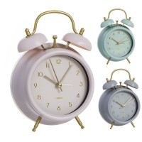 Reloj despertador vintage 3 colores rosa, gris o verde 11,8x5,7x17h cm