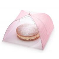Cubre alimentos textil lunares rosas 42 cm