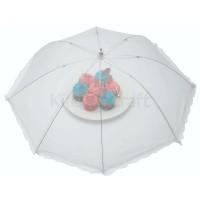 Cubre alimentos paraguas tela rejilla blanca 76 cm