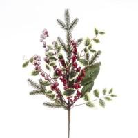 Rama acebo con hojas 65 cm