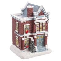 Casita nevada vintage Navidad poliresina 8,90x8,60x12,80h cm