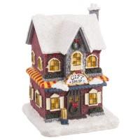 Casita nevada tiendas regalos vintage Navidad poliresina 9,70x8,50x13h cm