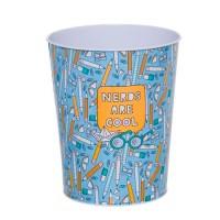 Papelera escritorio metal lápices Pencil azul Ø20x24h cm