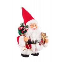 Muñeco de Navidad Papa Noel animado canta y camina 15x10x20h cm