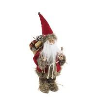 Muñeco de Navidad Papa Noel con regalos Holly Velluto 16x12x30h cm