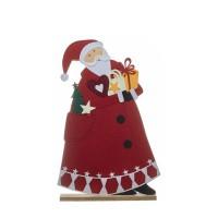 Figura fieltro Papa Noel con regalos 52x8x80h cm