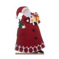 Figura fieltro Papa Noel con regalos 65x9x100h cm