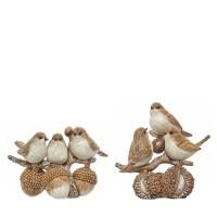 Figura 3 pájaros en rama de árbol con bellotas 2 opciones