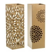 Paragüero metal dorado flor 2 modelos 15,5x15,5x49h cm