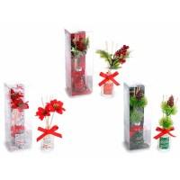 Mikados navideños 50ml disponibles 3 aromas: Naranja-canela, frutos rojos o vino caliente