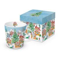Mug decorado con Puesto Navideño nevado Christmas Market PPD 35cl