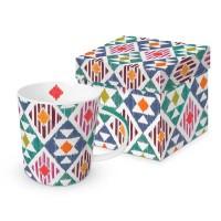 Taza con asa mug decorado en caja regalo estampado étnico Ikarus PPD 35cl