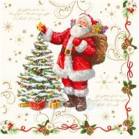Servilletas papel Papa Noel Navidad Magica 20 unidades 33x33 cm