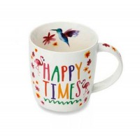 Mug porcelana decorado floral Cooksmart Happy Times 30cl