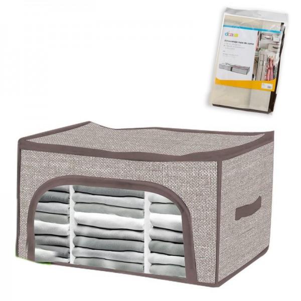 Funda guarda ropa almacenamiento con ventana y cremallera XL 56x36x30 cm