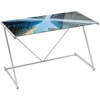 Mesa escritorio cristal templado estampado Skys 120x60x75cm