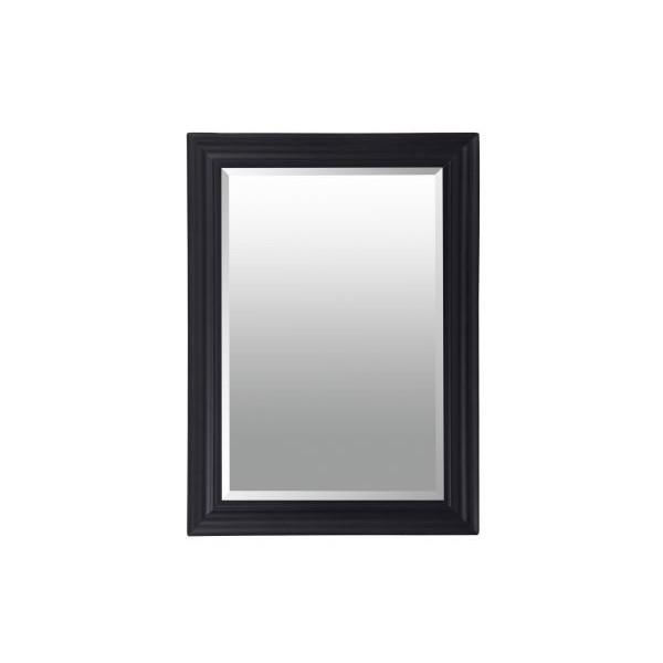 Espejo de pared marco negro 60x90h cm ext. 69x99h cm