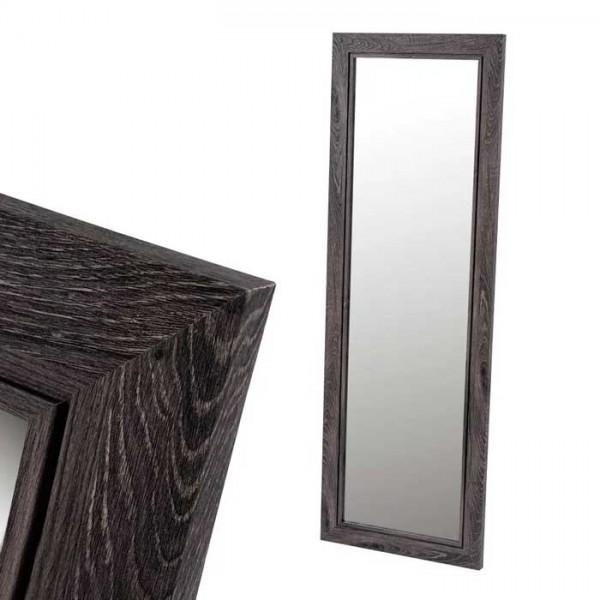 Espejo de pared grande con marco MDF negro 39x139 h cm ext. 53x153 h cm